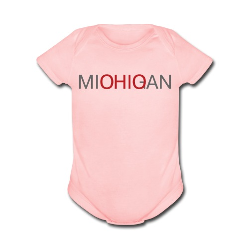 Michigan - Ohio Baby Short Sleeve One Piece - Organic Short Sleeve Baby Bodysuit