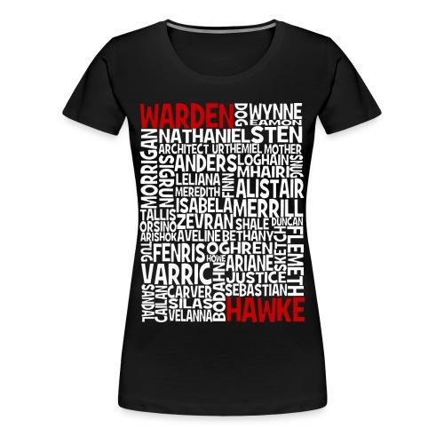 DA Warden Hawke - F  - Women's Premium T-Shirt