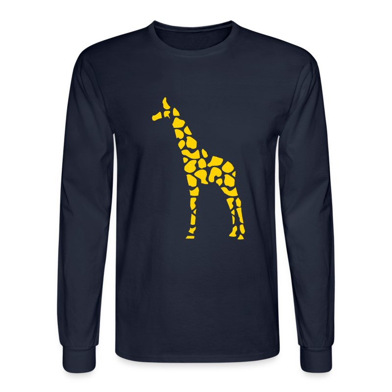 Giraffe pattern t shirt spreadshirt for Long sleeve shirt pattern