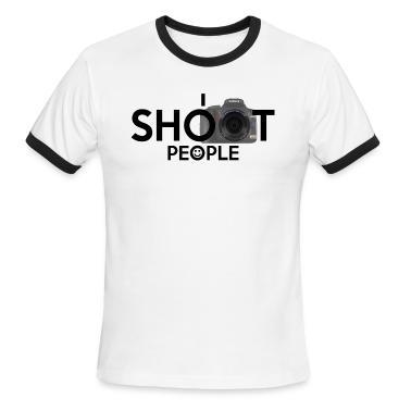 I Shoot People Mens Ringer T-shirt