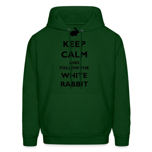 keep calm and follow the white rabbit - Men's Hoodie