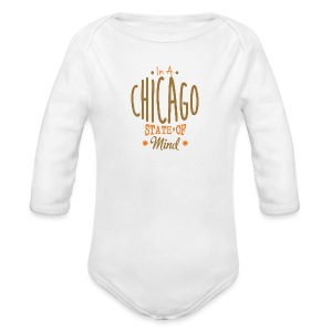 Chicago State Of Mind - Long Sleeve Baby Bodysuit