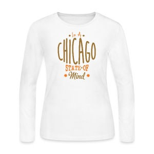 Chicago State Of Mind - Women's Long Sleeve Jersey T-Shirt