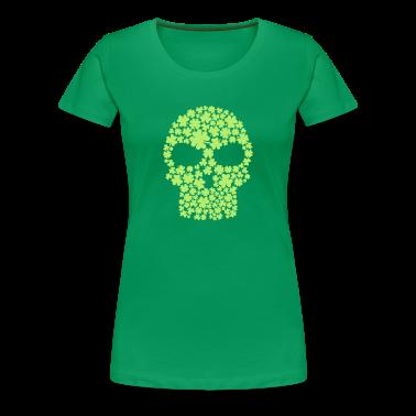 Shamrock skull Women's T-Shirts