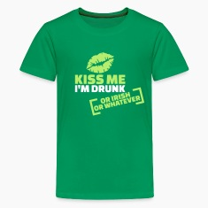 Kiss me I'm Drunk Kids' Shirts
