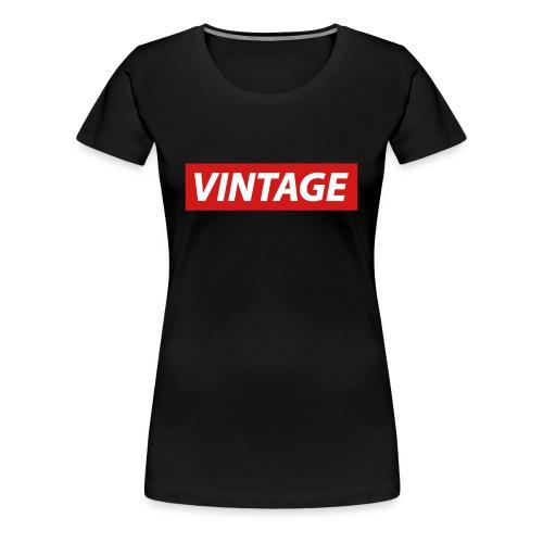 Vintage by 8K - Women's Premium T-Shirt