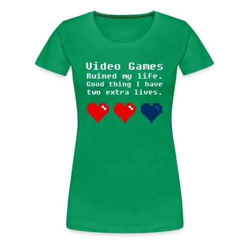 Xtra Lives - F  - Women's Premium T-Shirt