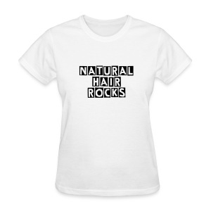 Natural Hair ROCKS - black lettering - Women's T-Shirt