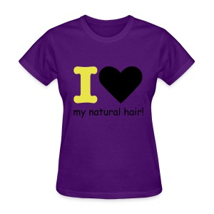 I love my natural hair - yellow and black - Women's T-Shirt