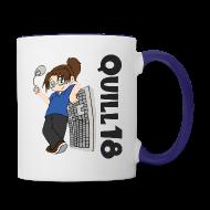 Mugs & Drinkware ~ Contrast Coffee Mug ~ Old School Quill18 (Mug)