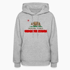 Vintage Distressed California State Flag Womens Ho