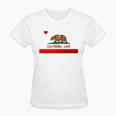 California Love State Flag Womens Standard T-shirt