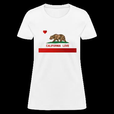 California Love State Flag Womens Standard T-shirt