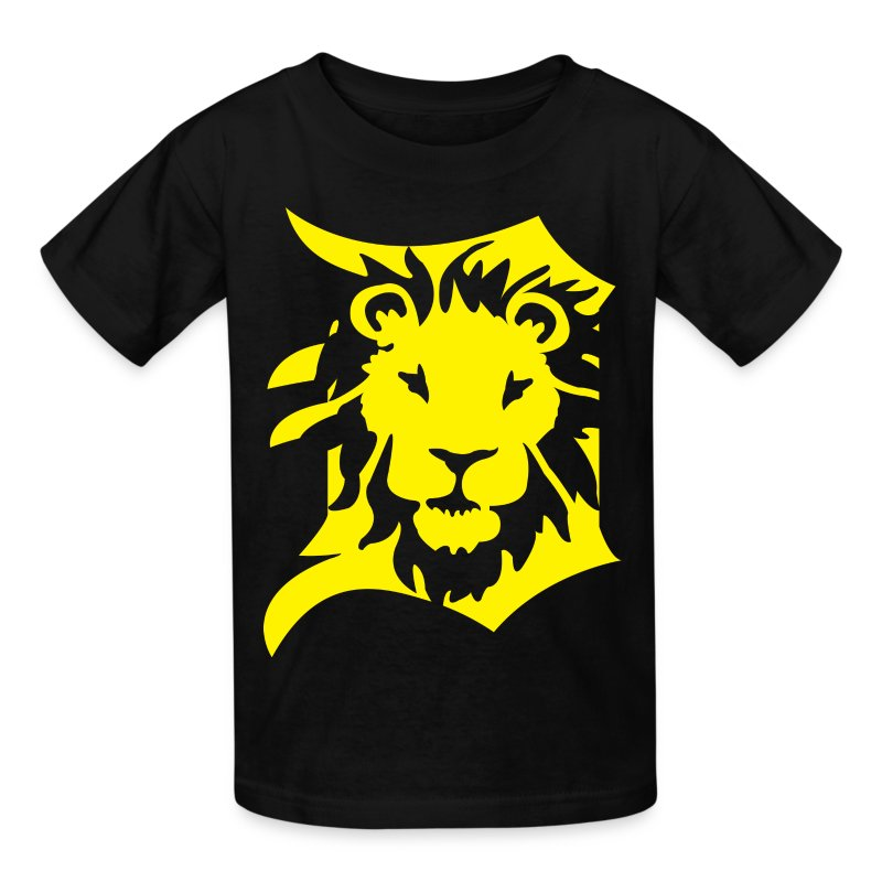 Detroit lions yellow t shirt spreadshirt for Yellow t shirt for kids
