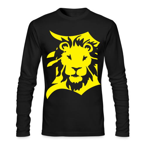 DETROIT LIONS yellow - Men's Long Sleeve T-Shirt by Next Level