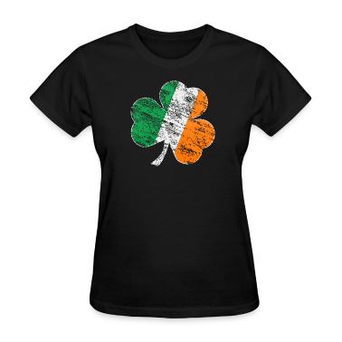Vintage Distressed Irish Flag Shamrock Shirt