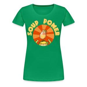Women's: Soup Power - Women's Premium T-Shirt