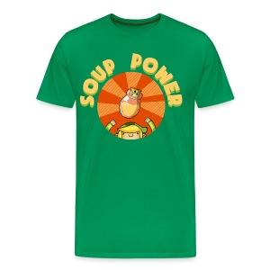 Men's: Soup Power - Men's Premium T-Shirt
