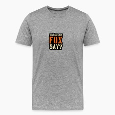 What Does The Fox Say Stamp Logo T-Shirts