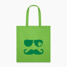 Mustache Shamrock Bags & backpacks