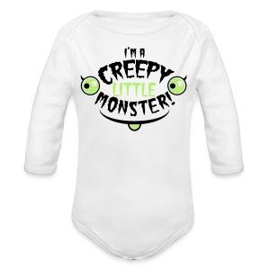 unisex  creepy little cutie onsie - Long Sleeve Baby Bodysuit
