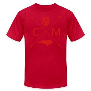 Home Grown AV cranberry - Men's Fine Jersey T-Shirt