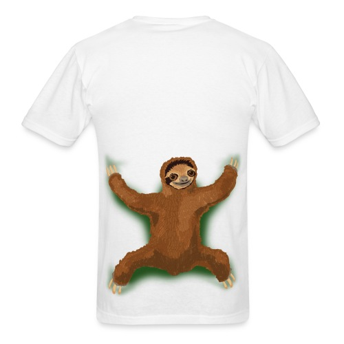 Attack of the Sloth - Back of shirt design - Men's T-Shirt