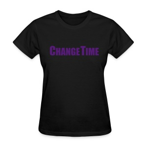 Woman CHANGETIME Standard T-Shirt Black - Women's T-Shirt