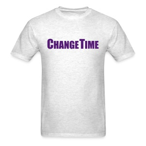 Man CHANGETIME Standard T-Shirt Grey - Men's T-Shirt