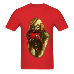 Pixel Heart - Zombie - Men's T-Shirt
