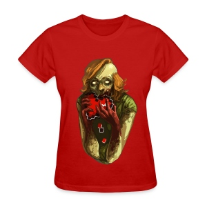 Pixel Heart - Zombie - Women's T-Shirt
