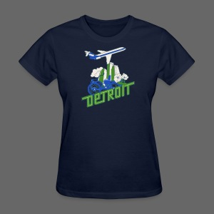 Vintage Detroit Airline Poster - Women's T-Shirt