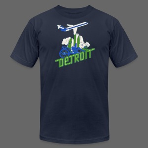 Vintage Detroit Airline Poster - Men's T-Shirt by American Apparel
