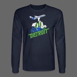 Vintage Detroit Airline Poster - Men's Long Sleeve T-Shirt