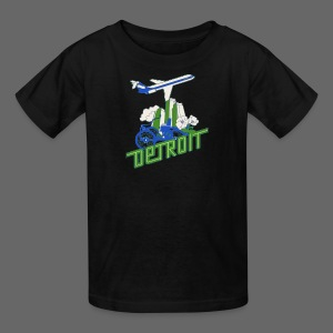 Vintage Detroit Airline Poster - Kids' T-Shirt