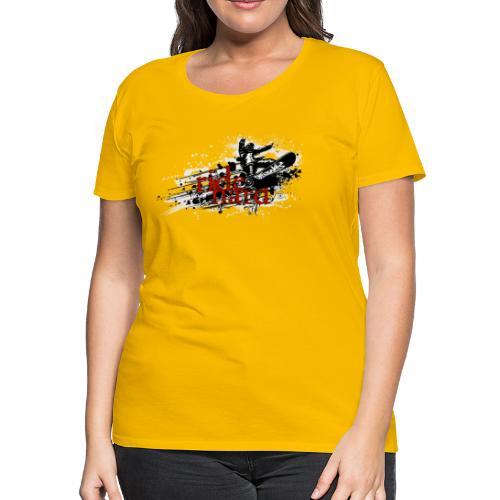 ride hard snow - Women's Premium T-Shirt