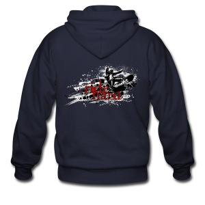 ride hard snow - Men's Zip Hoodie