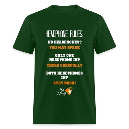 Headphone Rules Tee - Men's T-Shirt