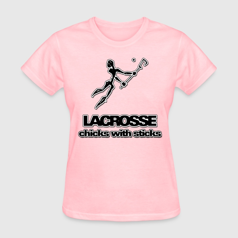 Lacrosse Chicks With Sticks T-Shirt - Women's T-Shirt