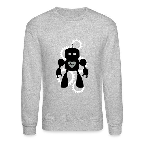 Robot Heart Gears Men's Sweatshirt - Crewneck Sweatshirt
