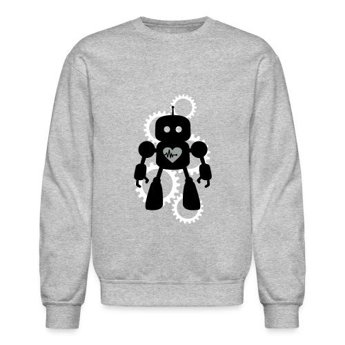 Robot Heart Gears Men's Sweatshirt - Crewneck Sweatshirt