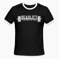 Deadlift Ringer Tee by AlmostAesthetic