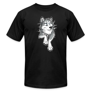STUCK Husky Grey (2-sided) - Men's T-Shirt by American Apparel