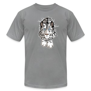 STUCK White Tiger (front) - Men's T-Shirt by American Apparel