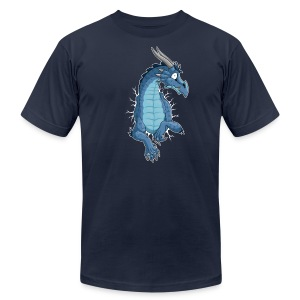 STUCK Blue Dragon (front) - Men's T-Shirt by American Apparel
