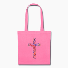 Colorful word's Christian cross Bags & backpacks