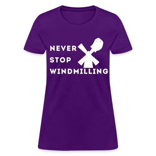 Women's Windmilling (White Logo) - Women's T-Shirt