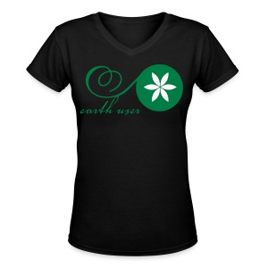 Earth User - Women's V-Neck T-Shirt