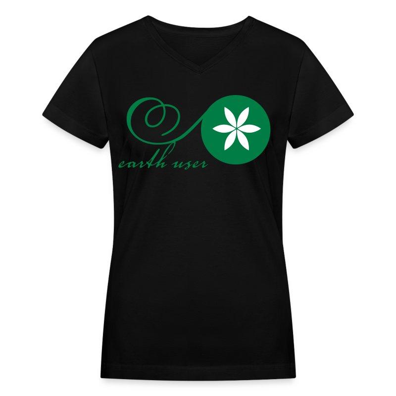 Earth User - Women's V-Neck T-Shirt