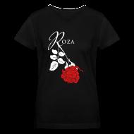 Women's T-Shirts ~ Women's V-Neck T-Shirt ~ Roza